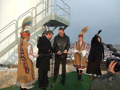 Inauguration windpark Kardam in Bulgaria
